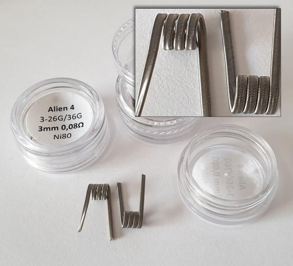 Alien handmade coils mechanisches Dampfen